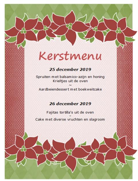 kerstmenu 2018